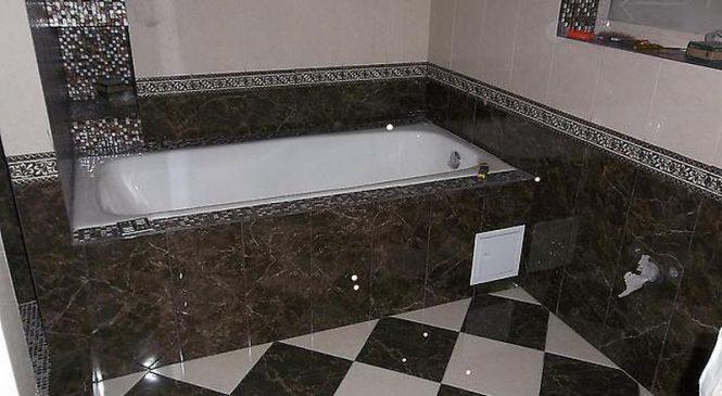 Ремонт ванной комнаты кафельной плиткой