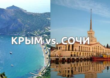 Сочи или Крым — какой курорт выбрать для отдыха?